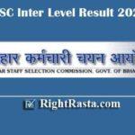 BSSC Inter Level Result 2020 | Download Bihar SSC 10+2 Exam Results