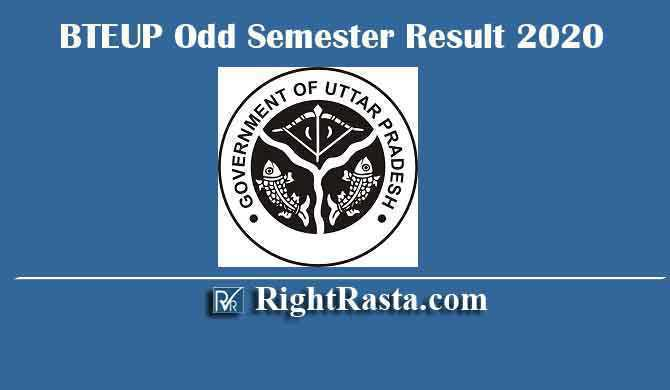 BTEUP Odd Semester Result 2020