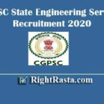 CGPSC State Engineering Services Recruitment 2020 | Apply Online Form for Chhattisgarh PSC SES Exam 2020