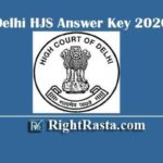 Delhi HJS Answer Key 2020 | Download Delhi High Court Judicial Service Prelims Model Key PDF