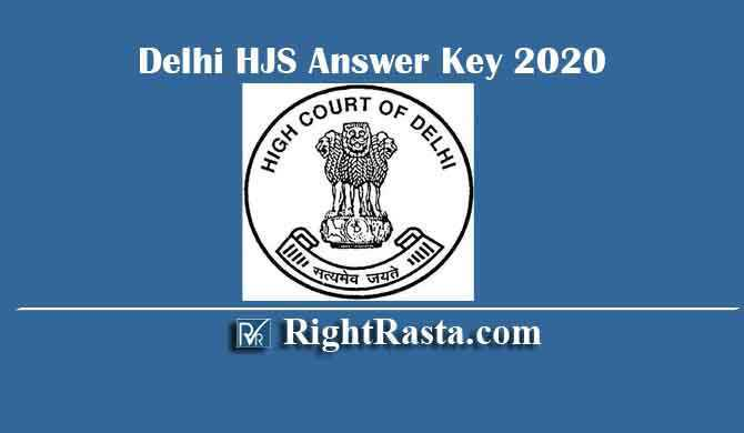 Delhi HJS Answer Key 2020