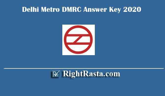 Delhi Metro DMRC Answer Key 2020