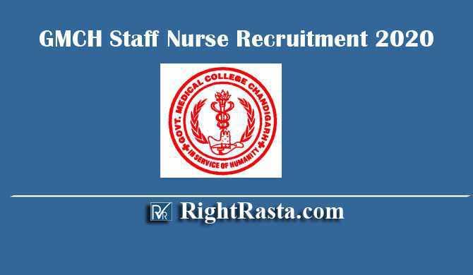 GMCH Staff Nurse Recruitment 2020