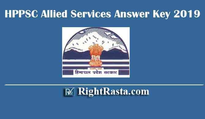 HPPSC Allied Services Answer Key 2019