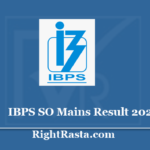 IBPS SO Mains Result 2020 - Download CRP SPL IX Final Results with Merit List