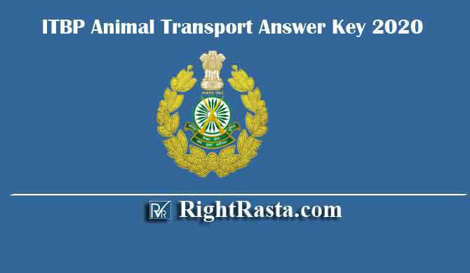 ITBP Animal Transport Answer Key 2020