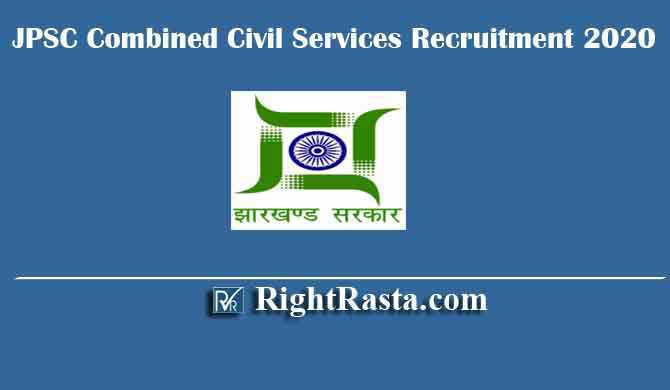 JPSC Combined Civil Services Recruitment 2020