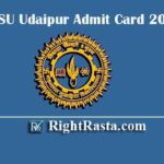 MLSU Udaipur Admit Card 2020 | Download Mohanlal Sukhadia University Exam Admit Cards Using Challan No or Roll No.