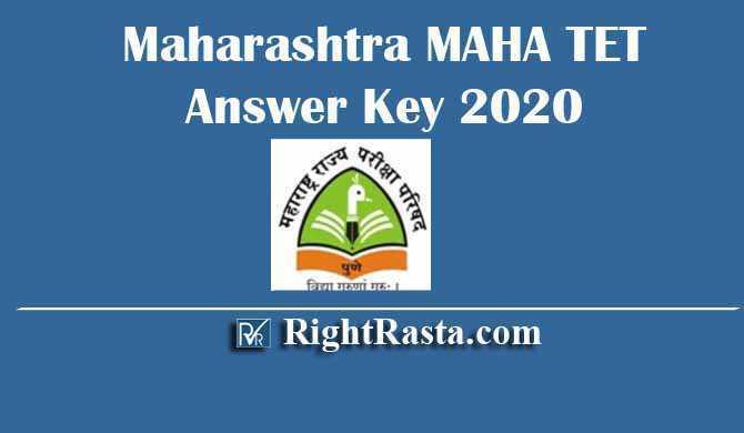 Maharashtra MAHA TET Answer Key 2020