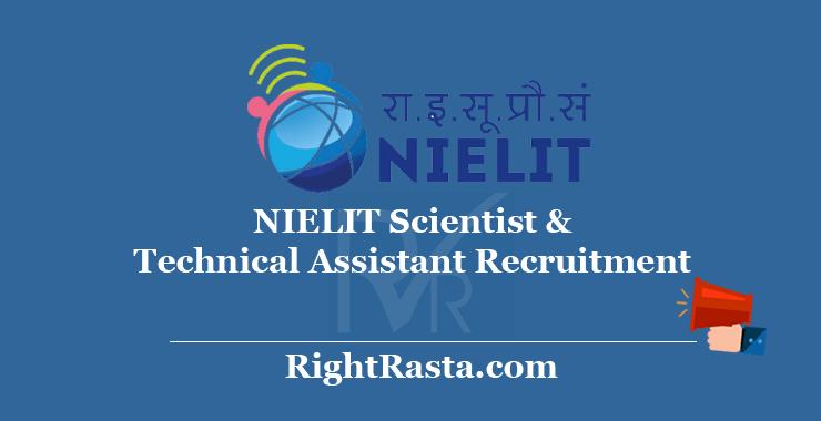 NIELIT Scientist & Technical Assistant Recruitment 2020