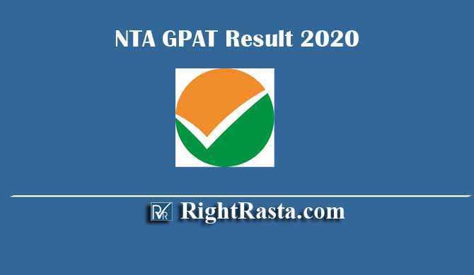 NTA GPAT Result 2020