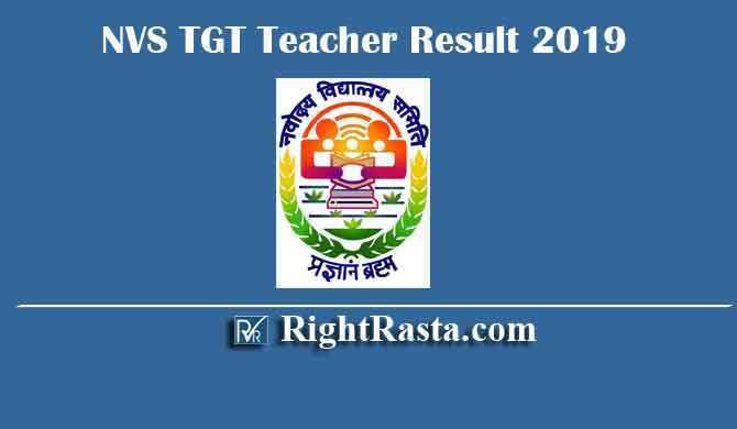 NVS TGT Teacher Result 2019