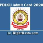 PDUSU Admit Card 2020 | Download Shekhawati University Main Exam Permission Letter @ univexam.com