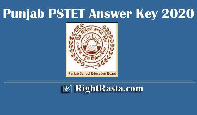 Punjab PSTET Answer Key 2020