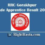 RRC Gorakhpur Trade Apprentice Result 2019 | Download Railway NER Apprentice Results 2020