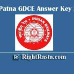 RRC Patna GDCE Answer Key 2020 | Download ECR Railway Group C Exam Key PDF