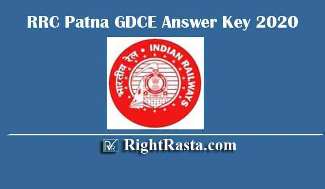 RRC Patna GDCE Answer Key 2020