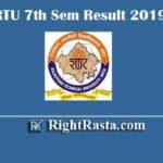 RTU 7th Sem Result 2019 | Download B.Tech 7 Semester Exam Results 2020 @ esuvidha.info