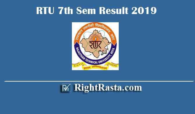 RTU 7th Sem Result 2019