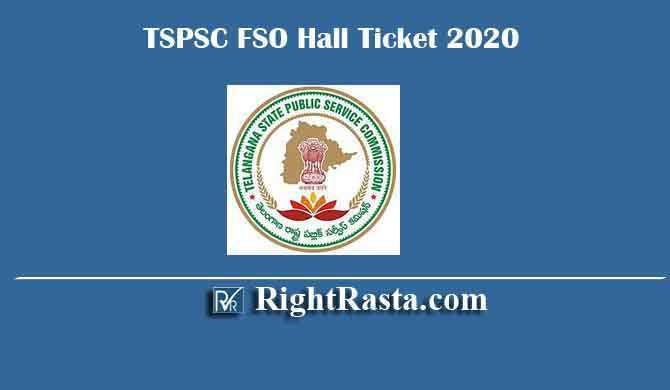 TSPSC FSO Hall Ticket 2020