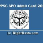 UPPSC APO Admit Card 2020 | Download Assistant Prosecution Officer Exam Hall Ticket