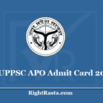 UPPSC APO Admit Card 2020 - Download UP Assistant Prosecution Officer Mains Exam Hall Ticket