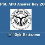 UPPSC APO Answer Key 2020 | Download UP Assistant Prosecution Officer Exam Key