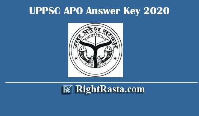 UPPSC APO Answer Key 2020