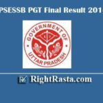 UPSESSB PGT Final Result 2016 | Download UPMSSCB Post Graduate Teacher Interview Results 2020 @ upsessb.org