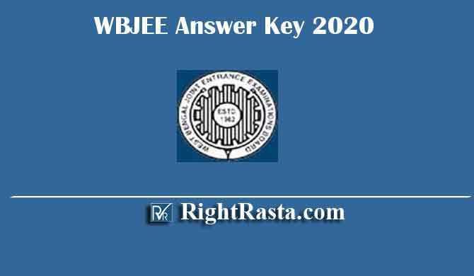 WBJEE Answer Key 2020