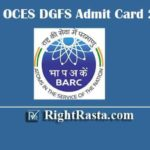 BARC OCES DGFS Admit Card 2020 | Download Scientific Officer Exam Hall Ticket