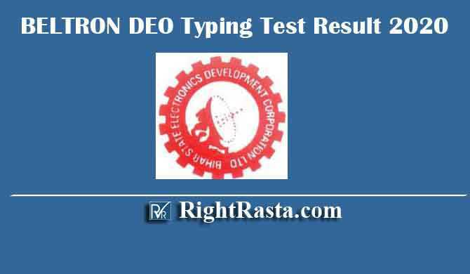 BELTRON DEO Typing Test Result 2020