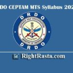 DRDO CEPTAM MTS Syllabus 2020 | Download Multi Tasking Staff Exam Pattern PDF