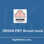 DSSSB PRT Result 2019 - Post Code 15/19 Assistant Teacher Primary ATP Exam Results 2020