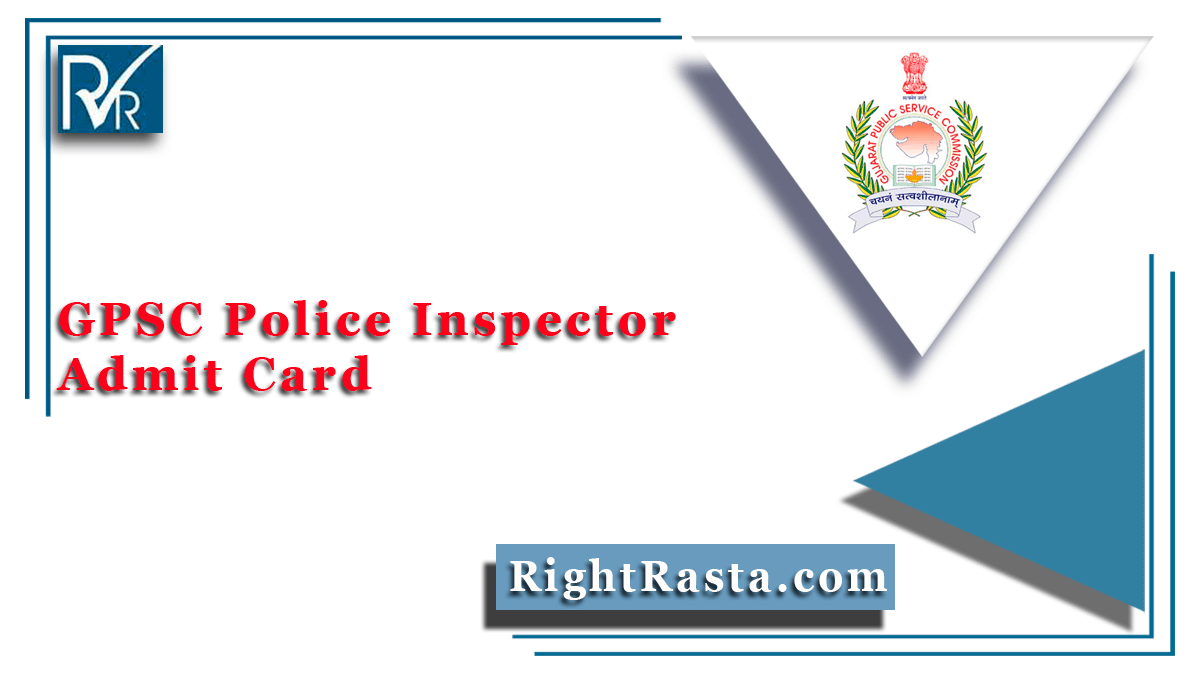 GPSC Police Inspector Admit Card