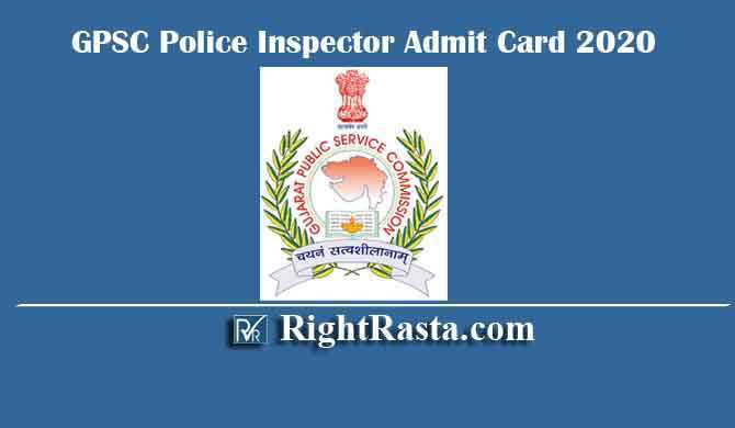 GPSC Police Inspector Admit Card 2020