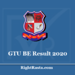 GTU BE Result 2020 - Gujarat Technological University B.E. Sem 2 & 4 Results
