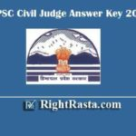 HPPSC Civil Judge Answer Key 2020 | Download Himachal Pradesh CJ Exam Key PDF