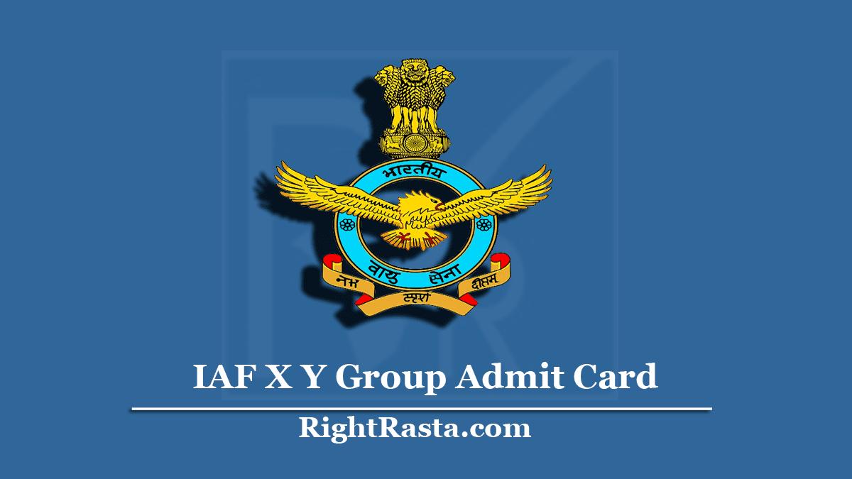 IAF X Y Group Admit Card
