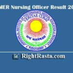 JIPMER Nursing Officer Result 2020 | Download JIPMER Group B and C Exam Results 2019
