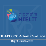 NIELIT CCC Admit Card 2020 (Out) Download September Exam Hall Ticket