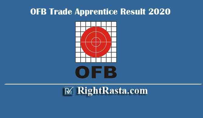 OFB Trade Apprentice Result 2020