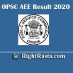 OPSC AEE Result 2020 | Download Odisha Assistant Executive Engineer Exam Results 2019