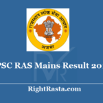 RPSC RAS Mains Result 2018 - Download Rajasthan PSC RTS Main Exam Results 2020