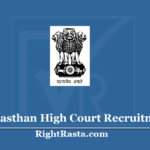 Rajasthan High Court JJA, Clerk, JA & Junior Assistant Recruitment 2020