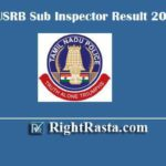 TNUSRB Sub Inspector Result 2020 | Download TN SI Exam Results With Cut Off Marks