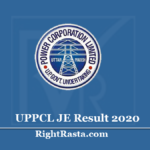 UPPCL JE Result 2020 | Download UP Energy Junior Engineer (Civil) Exam Results