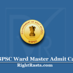 WBPSC Ward Master Admit Card 2020 (Out) | Download PSC Grade 3 Hall Ticket