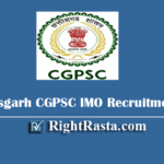 Chhattisgarh CGPSC IMO Recruitment 2020 - Apply Online Form for Insurance Medical Officer