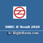 DMRC JE Civil Revised Result 2020 - Download Delhi Metro Junior Engineer Exam Results